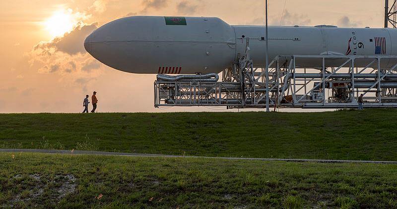 Prywatna rakieta leci nastację kosmiczną