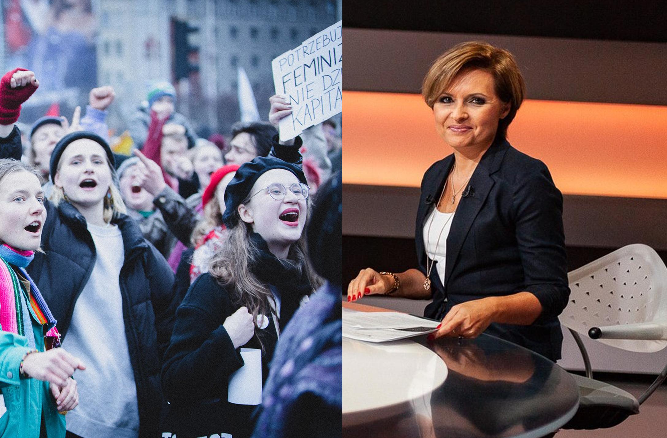 """Szokująca wypowiedź dziennikarki Polsatu dofeministek: """"sprowadzacie je doroli suki wrui"""""""