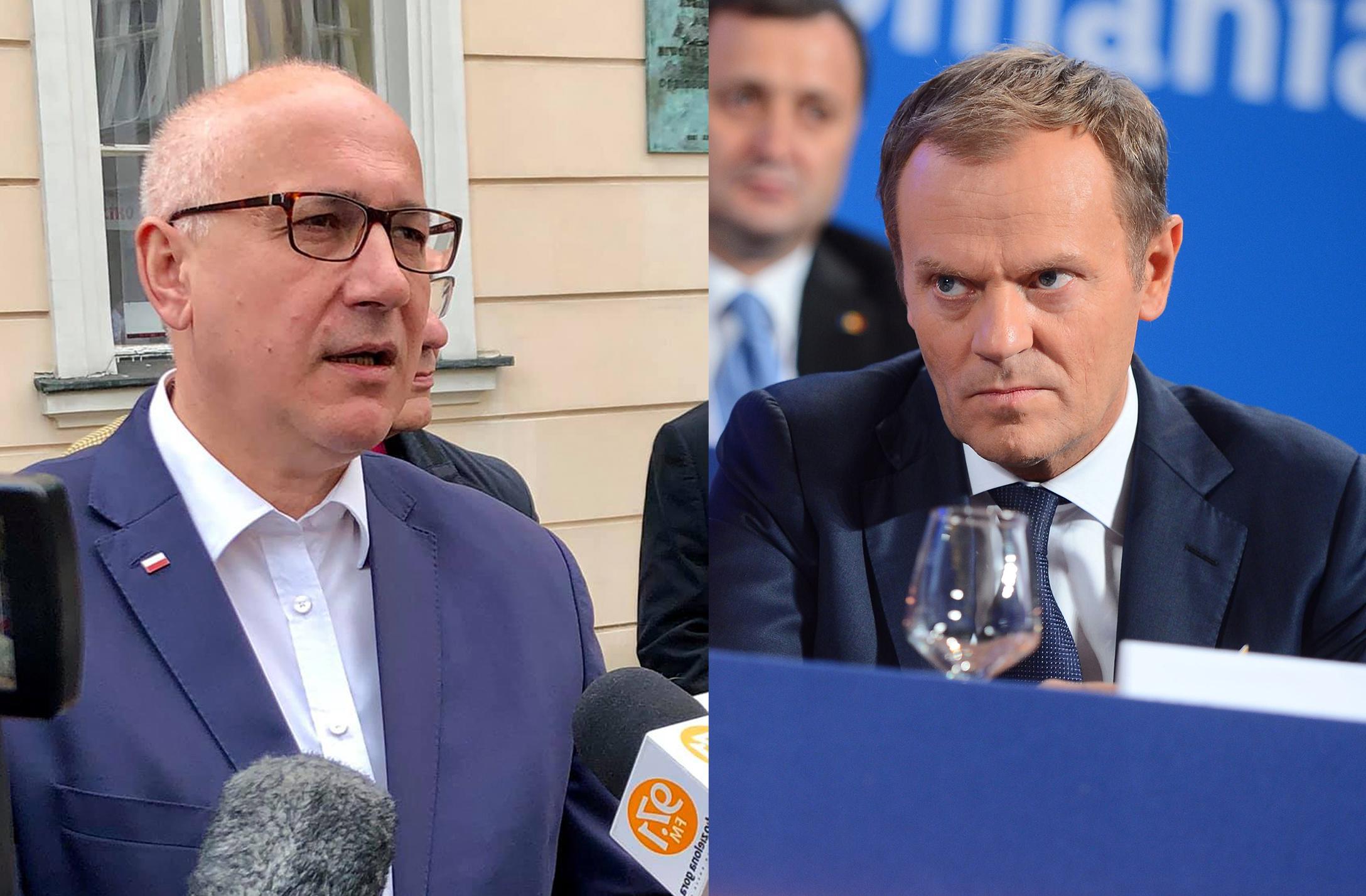 """Tusk: """"niestrasz, niestrasz, bo się…"""". Brudziński: """"krul UE nerwowo bełkocze"""""""