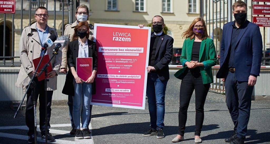 Przeciwko drastycznym zdjęciom naulicach Warszawy