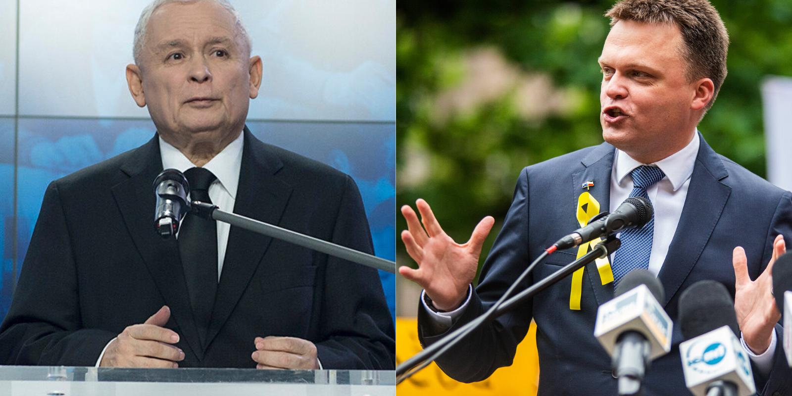 Kaczyński włącza się wkampanię. Hołownia: pęknę ześmiechu