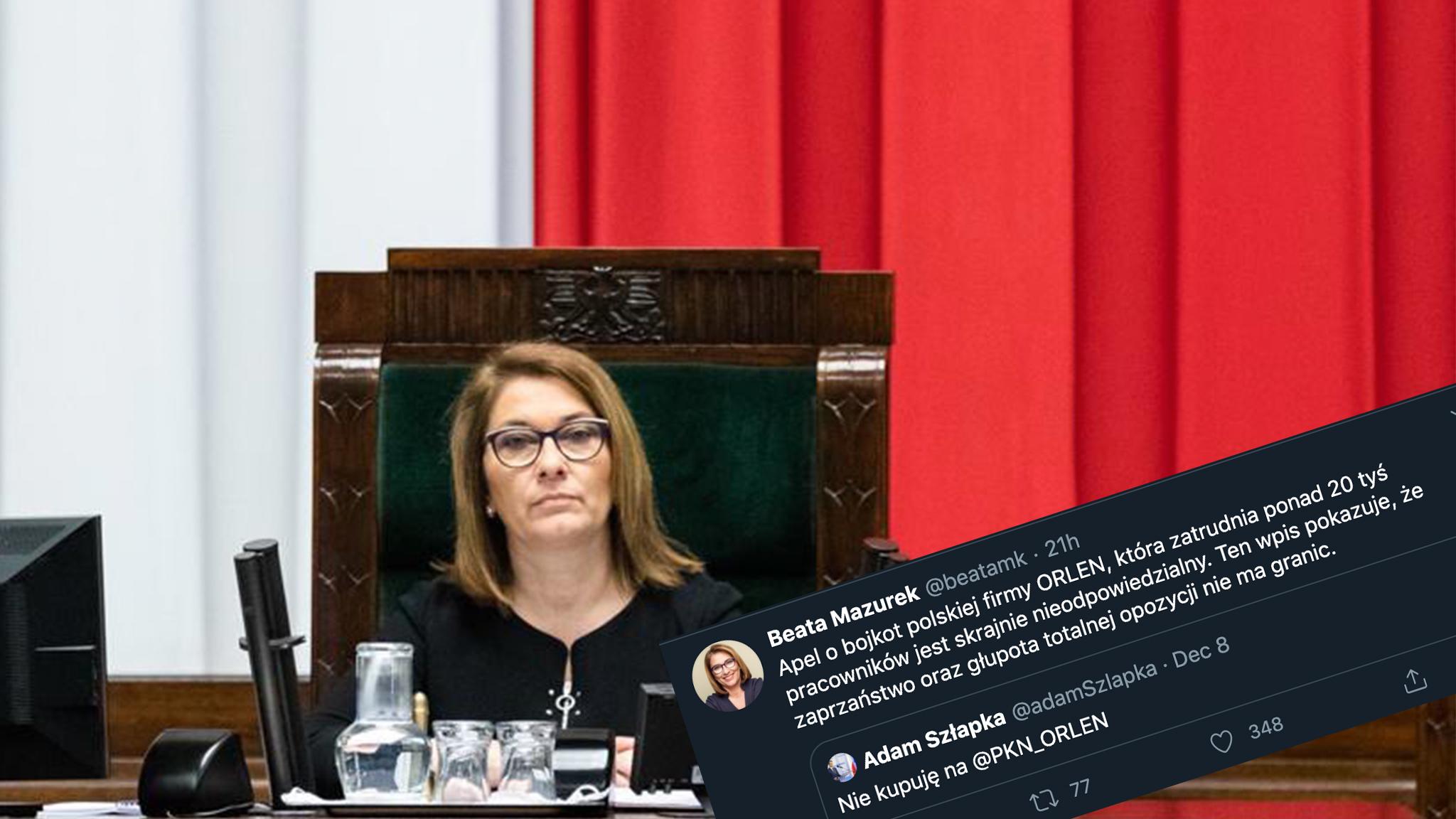 """Bojkot PKN Orlen. Mazurek: """"zaprzaństwo i głupota totalnej opozycji"""""""