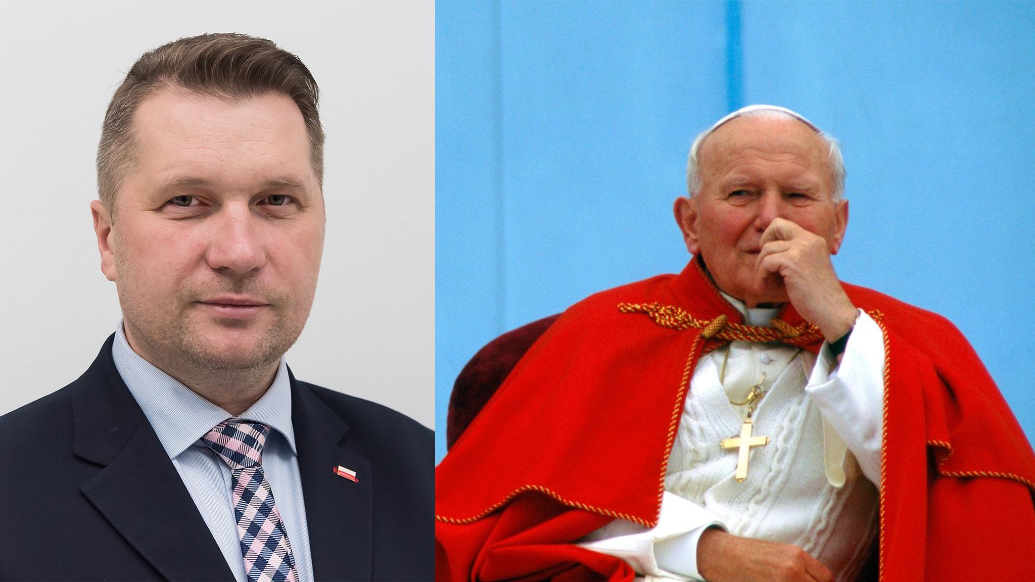 """Czarnek chce, bydzieci uczyły się o""""zboczeniu homoseksualnym"""" odJana Pawła II"""