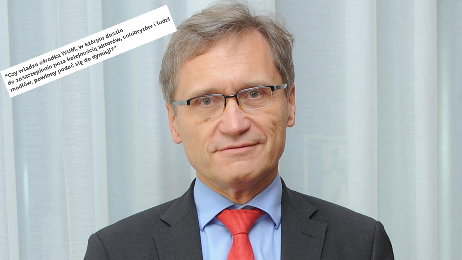 [SONDAŻ] Połowa Polaków zadymisją rektora WUM. Przeciwko? Bardzo niewiele