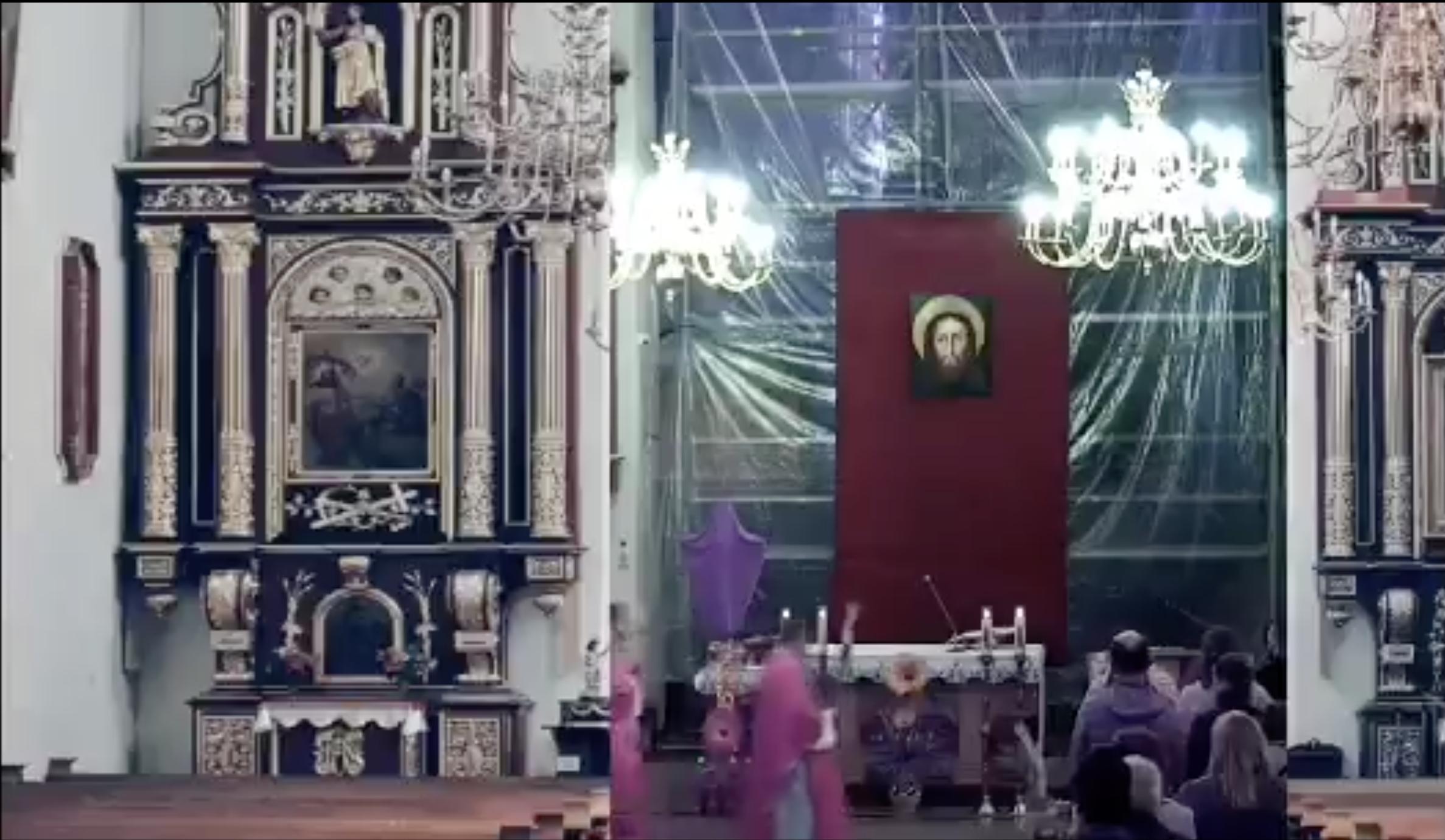"""[WIDEO] W Kościele  złamano obostrzenia? Stream z """"wklejonymi"""" ławkami podbija sieć"""