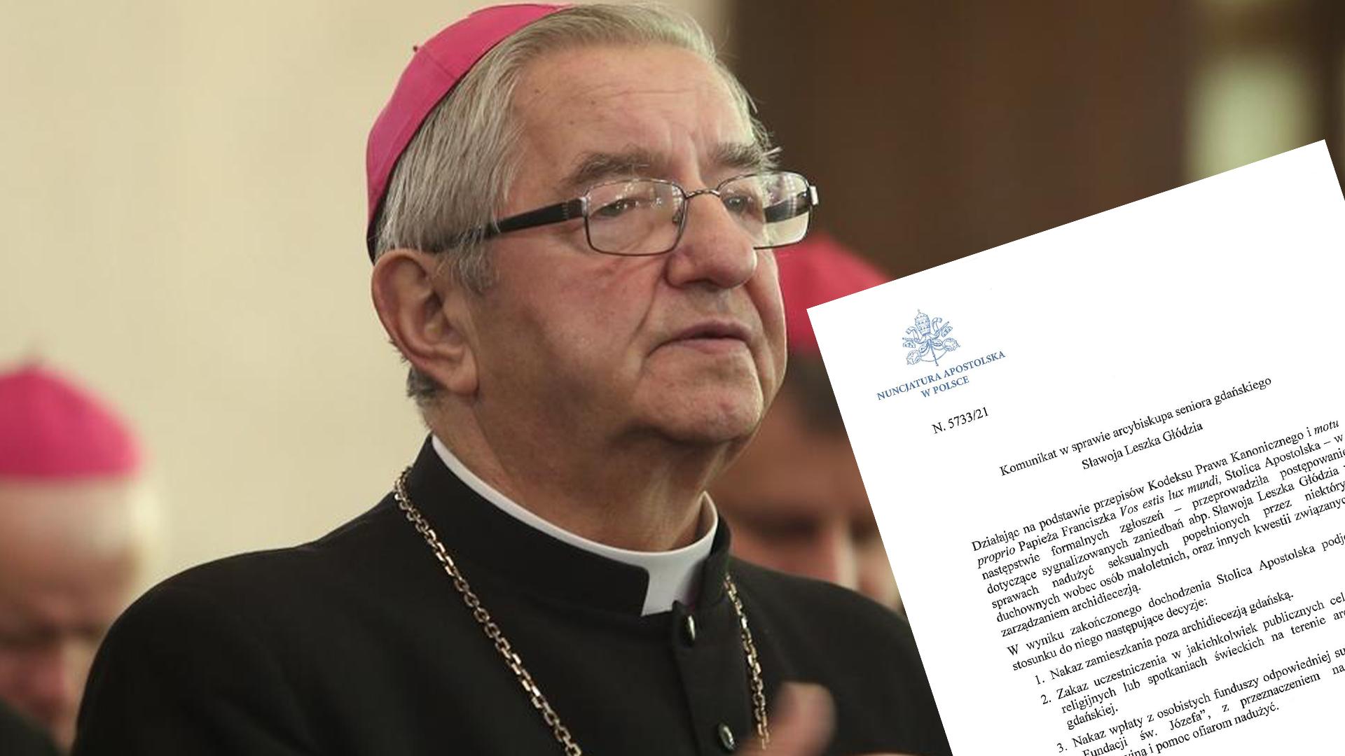 [PILNE] Papież ukarał abp. Głódzia i Janiaka za tuszowanie pedofilii