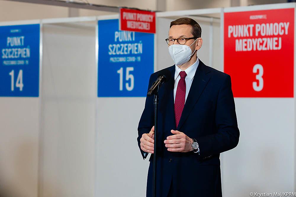 """Morawiecki: """"Każdy chętny zapisze się naszczepienie od10 maja"""""""