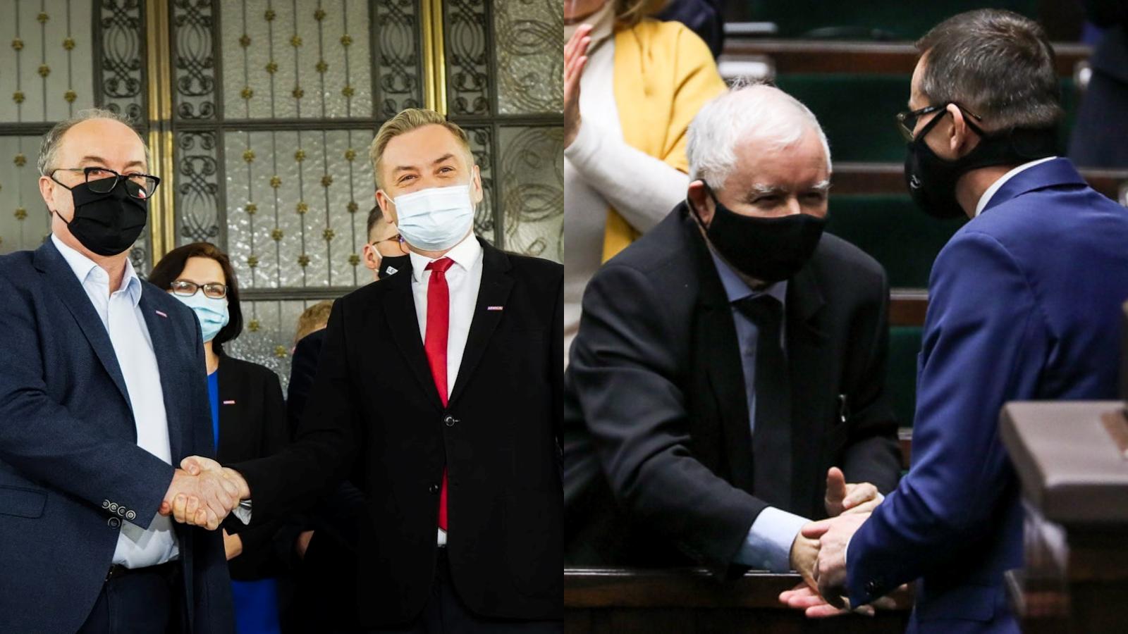 [SONDAŻ] Rośnie poparcie PiS iLewicy, spada KO. PSL poza Sejmem