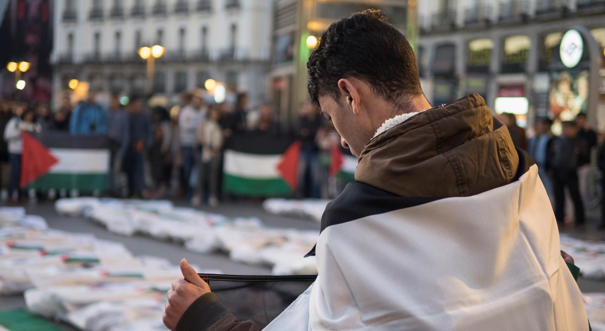 Propalestyńskie demonstracje wwielu miastach Europy