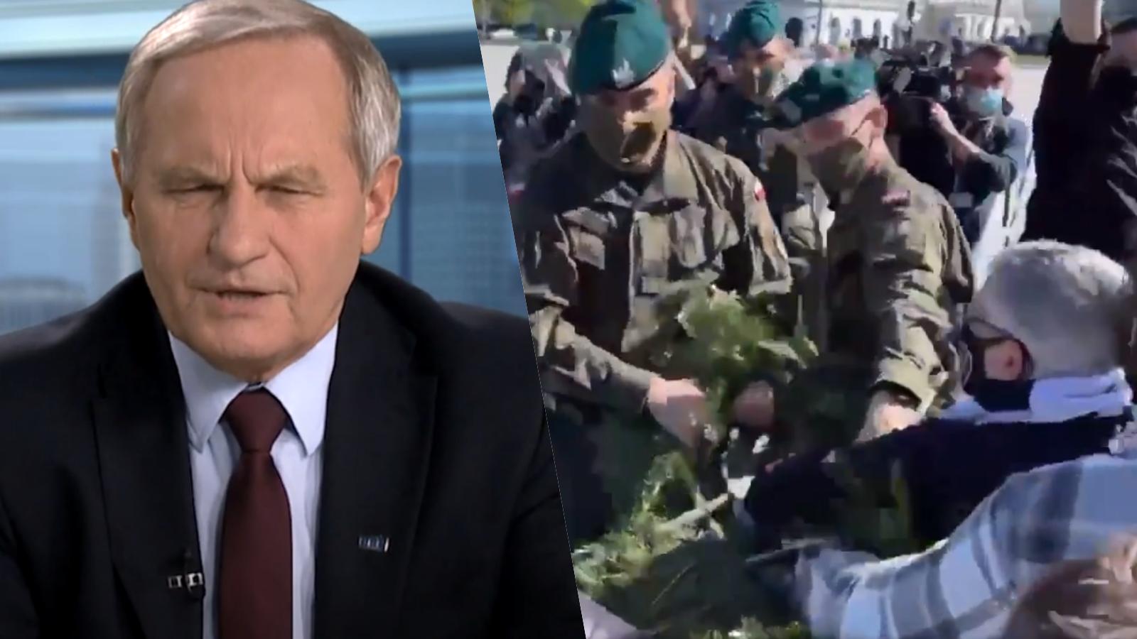 """Generał Koziej doBłaszczaka: """"Kto dojasnej cholery wysyła żołnierzy przeciwko cywilom?"""""""
