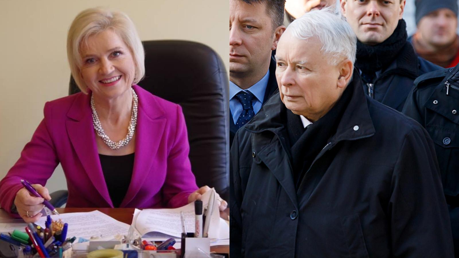 """Lidia Staroń zostanie kandydatką PiS naRPO? Kaczyński: """"Jej nazwisko wchodzi wgrę"""""""