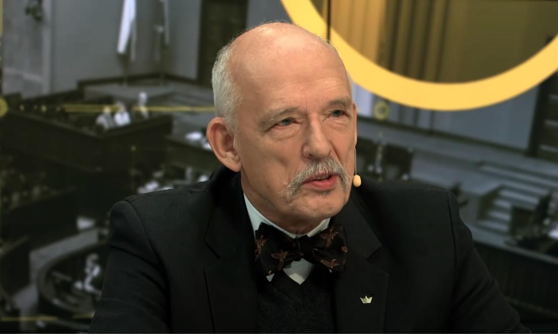 """Janusz Korwin-Mikke: """"Miejsce Trzaskowskiego jest wdomu wariatów"""""""