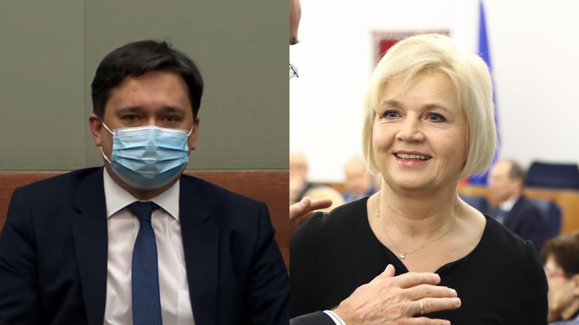 Posłowie PiS poparli Staroń, 10 posłów Porozumienia Wiącka