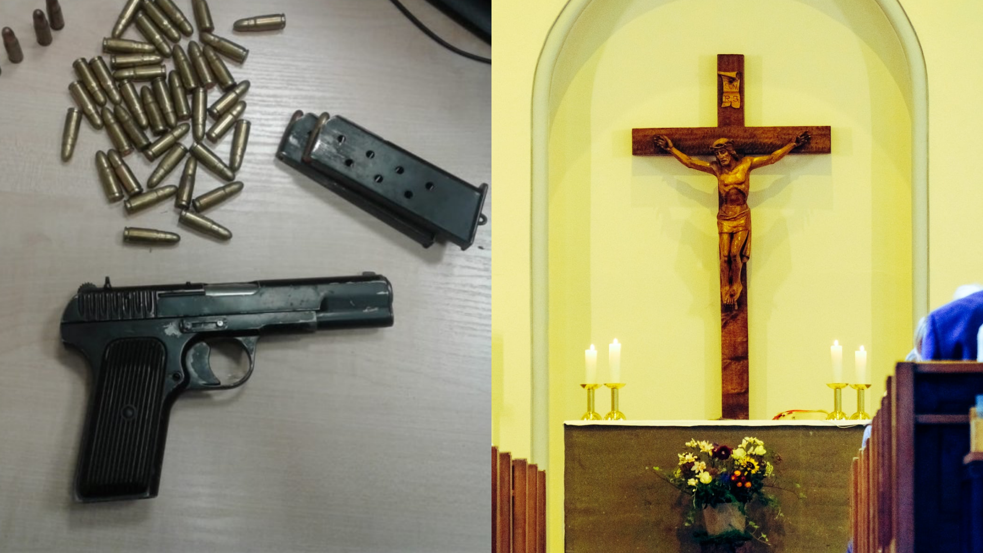 Duchowny nielegalnie handlował bronią, którą składował naplebanii