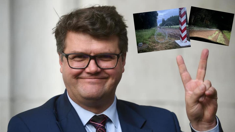 150 km drutu kolczastego na polskiej granicy. Wąsik pochwalił się na twitterze