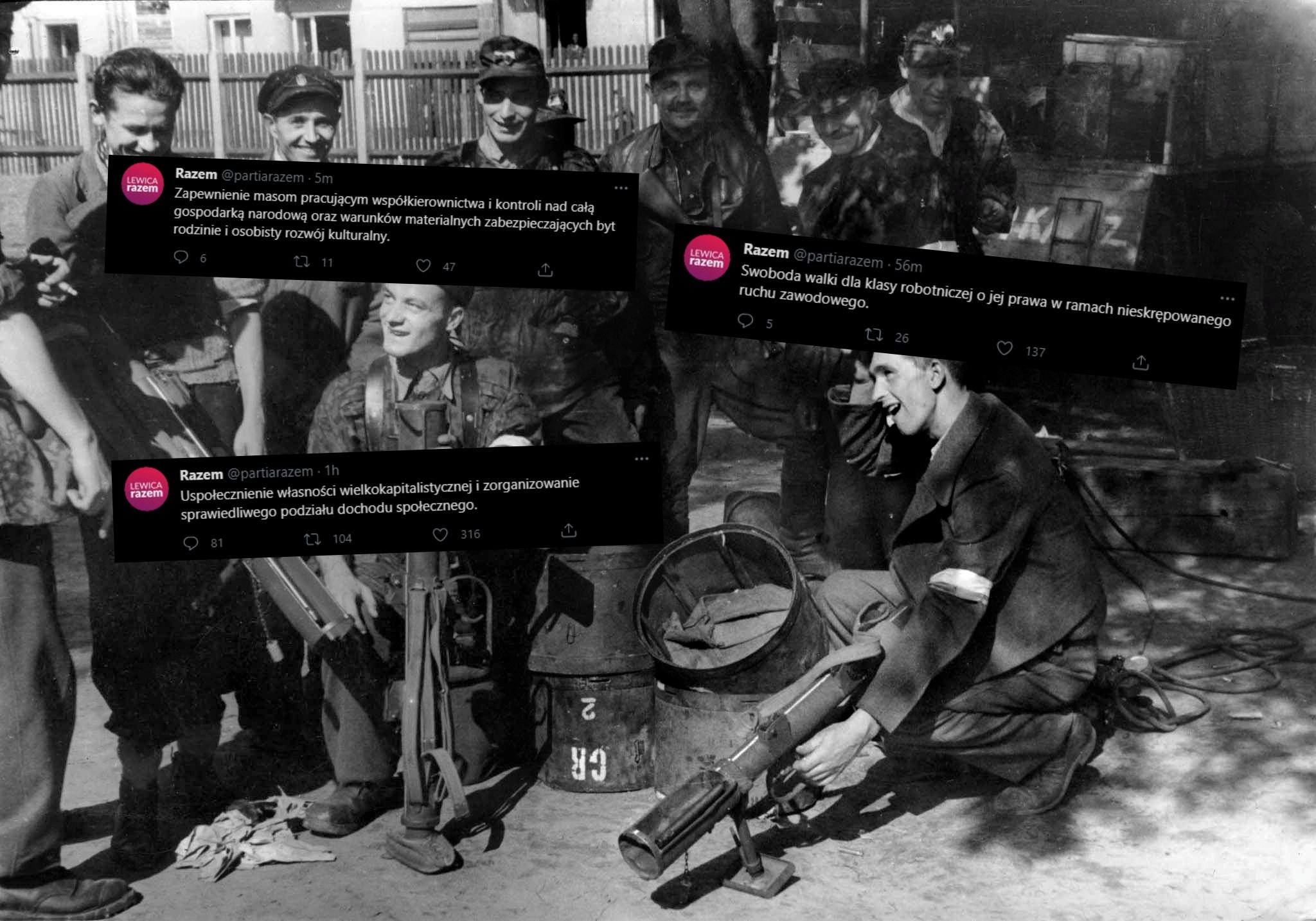 Lewica Razem przypomniała postulaty Powstańców. Internet zagrzmiał