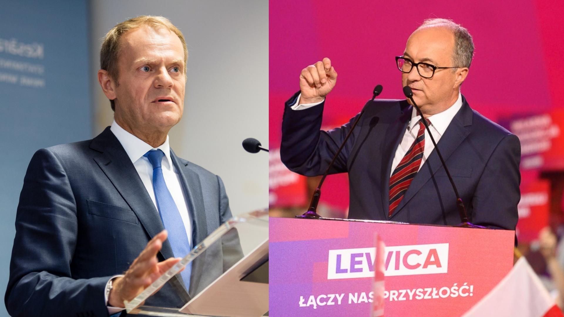"""Tusk nie będzie współpracował z Lewicą? """"Wyborcza"""": PO skręca w prawo"""