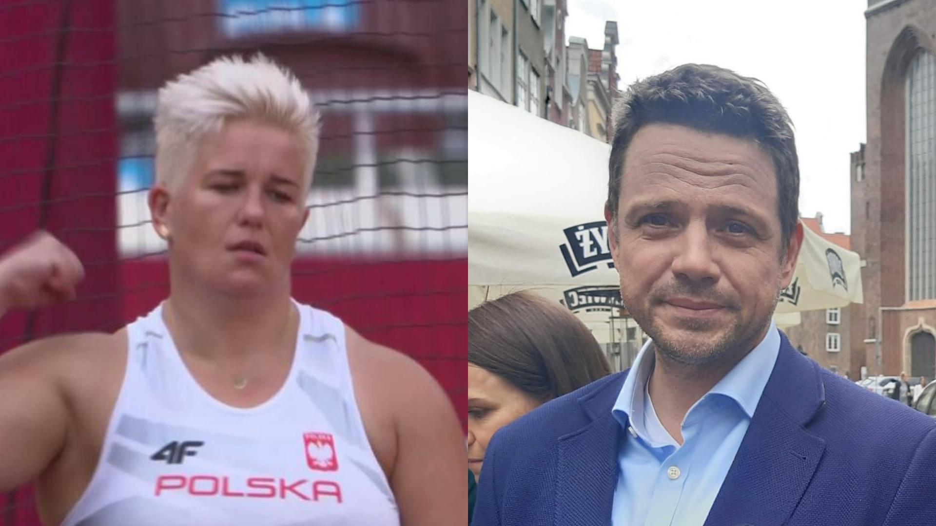 """Trzaskowski gratuluje Włodarczyk. Internauci zareagowali: """"Wyremontuj Stadion Skry"""""""