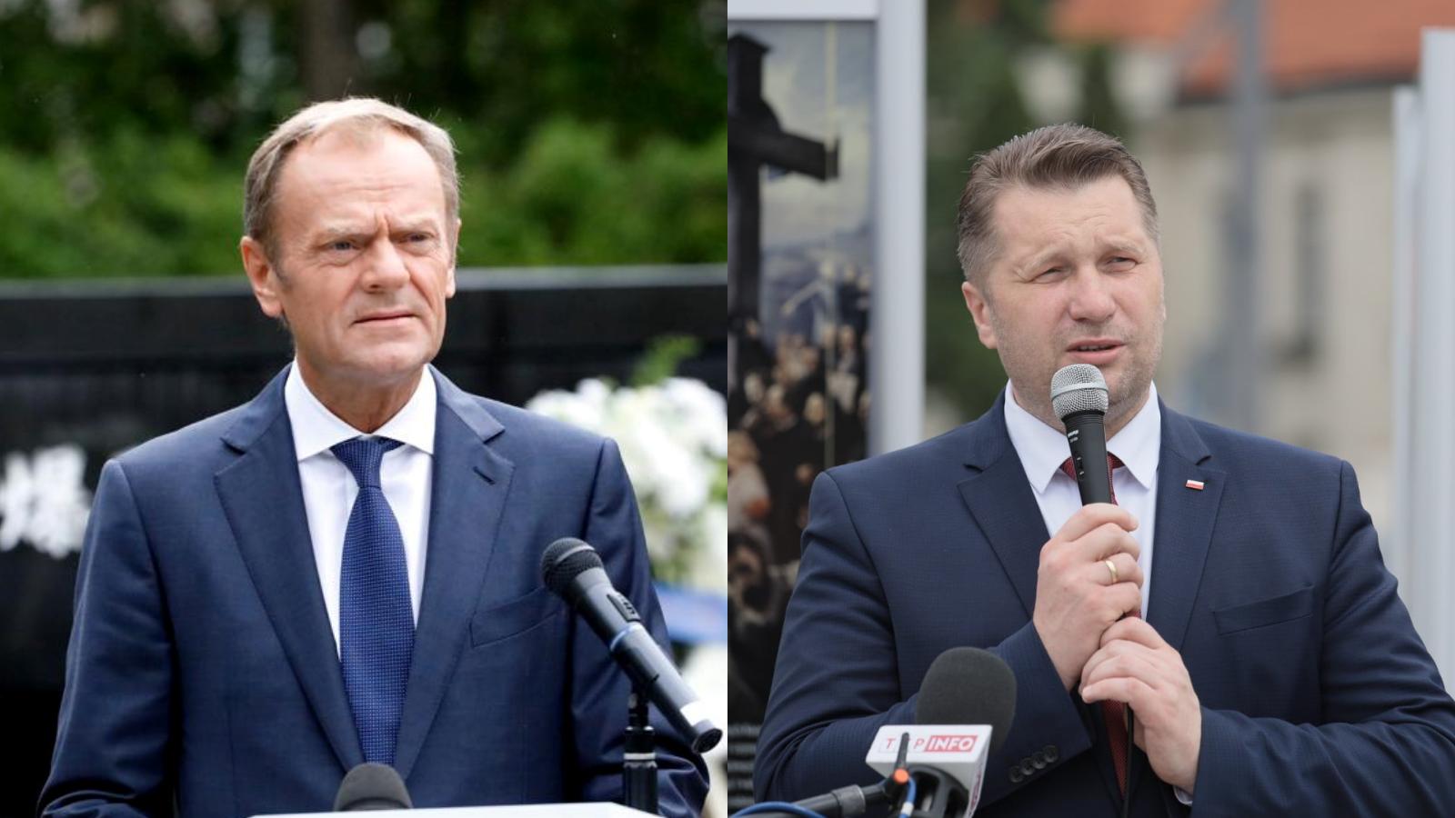 """Wina Tuska"". Czarnek oskarża lidera PO za kryzys migracyjny"