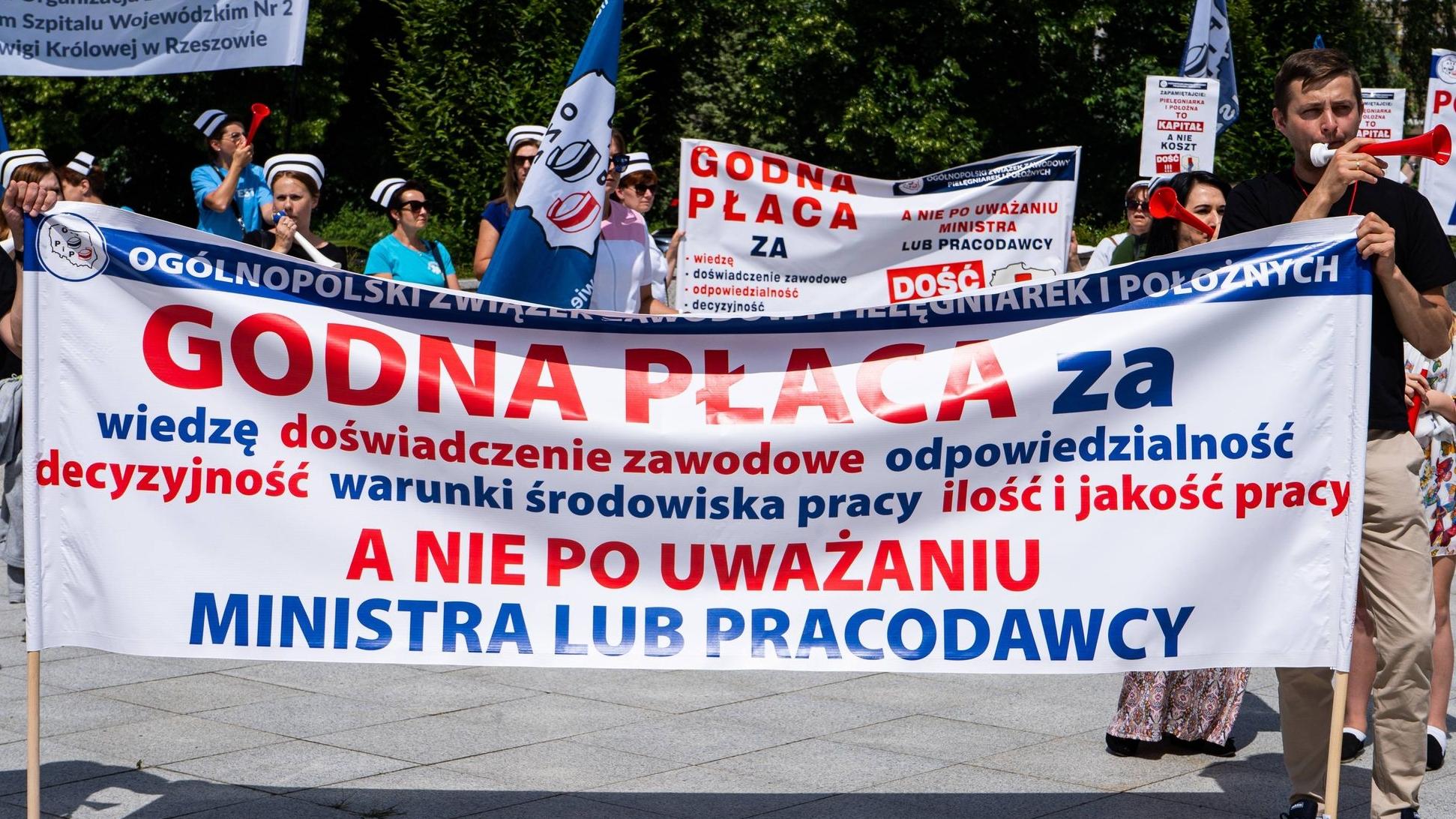Ogólnopolski protest pracowników ochrony zdrowia