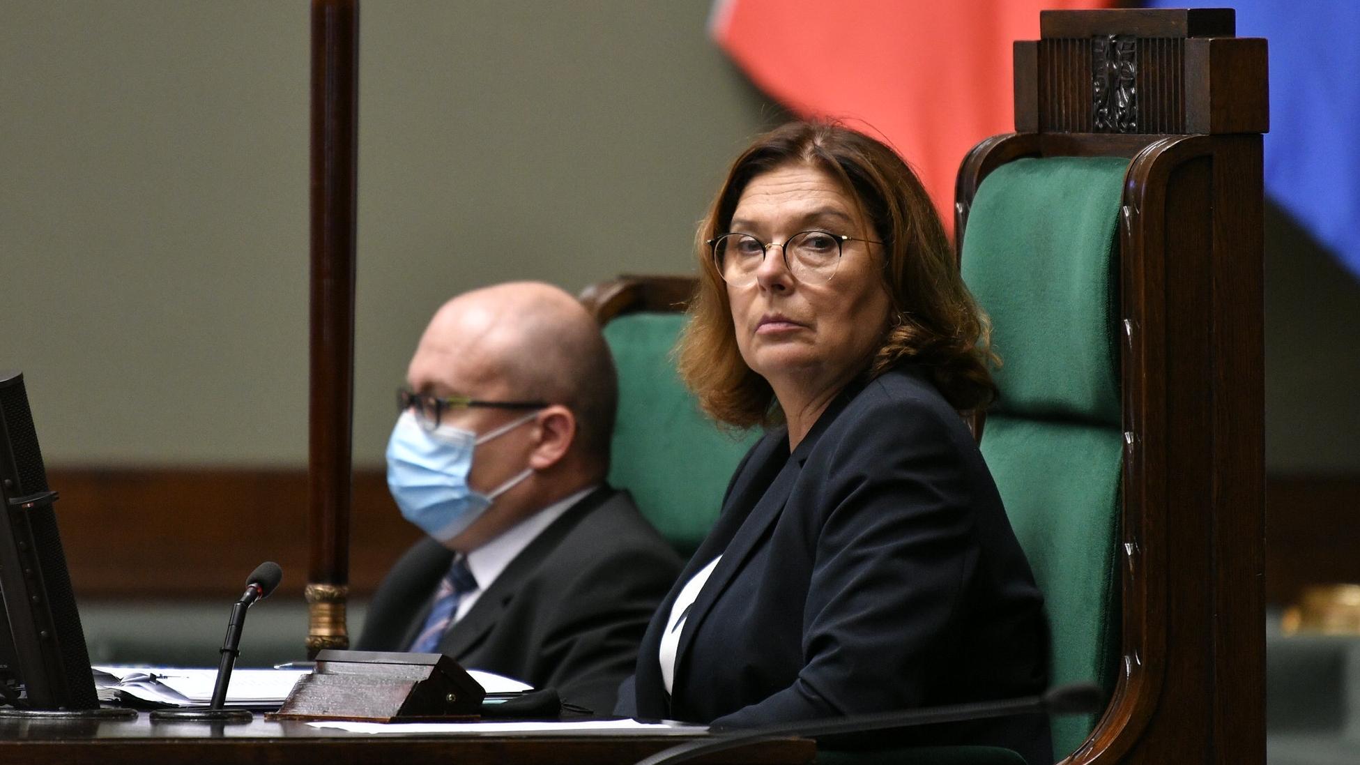 Kidawa-Błońska: Braun zachował się w sposób skandaliczny. Wieczorem zbierze się Prezydium Sejmu