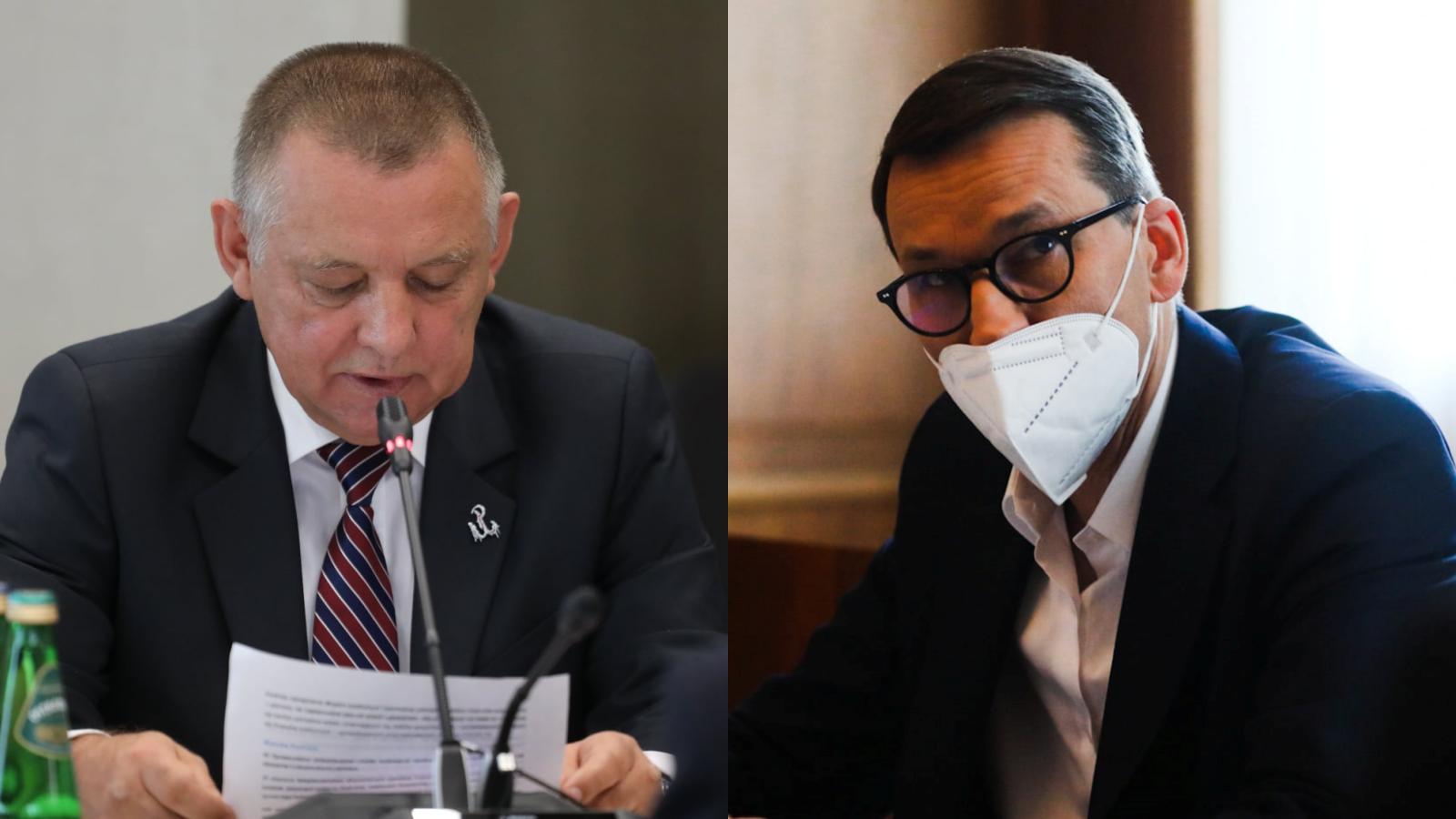 """Ludzie Banasia weszli do kancelarii Morawieckiego. Zapadło """"dziwne milczenie"""""""