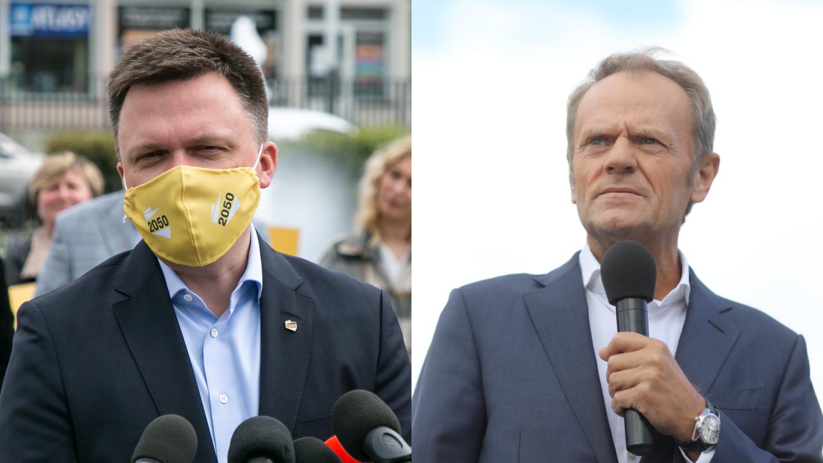 Hołownia do Tuska: Odradzam układanki z PiS, Kaczyński nie jest partnerem do zmiany