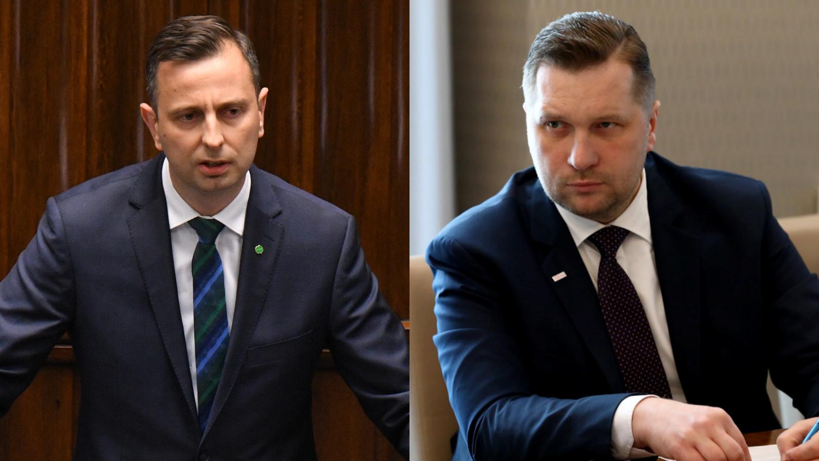 """Kosiniak-Kamysz ostro o Czarnku. Ludowiec nazwał ministra """"jaskiniowcem"""""""