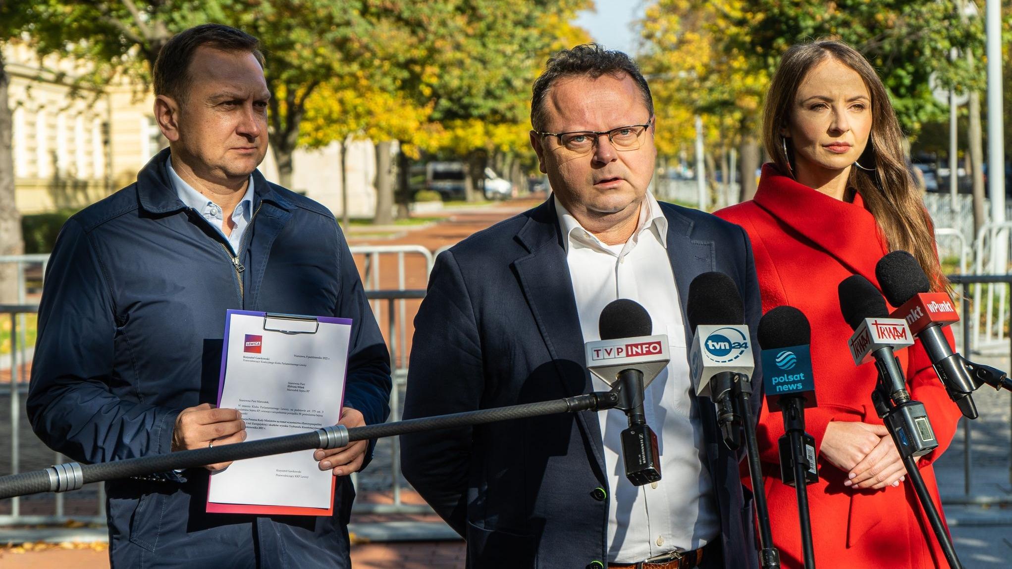 Lewica chce informacji od Morawieckiego ws. przyszłości Polski w UE