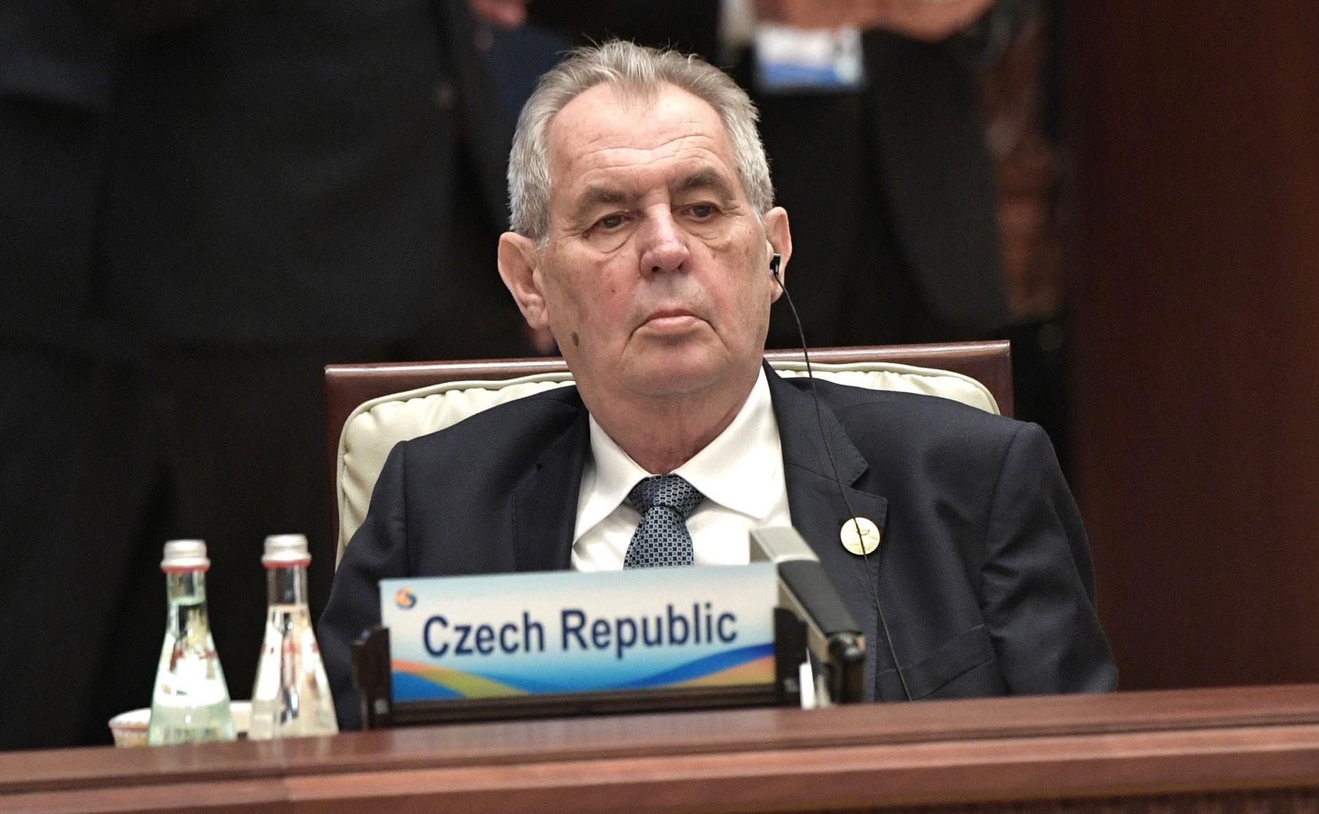 Miloš Zeman na oddziale intensywnej terapii po spotkaniu z premierem